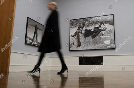 Editorial photo of Guy Bourdin, Helmut Newton, Angelo Marino photo exhibition in Berlin, Germany - 30 Nov 2017