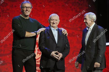 Laurent Blanc, Nikita Simonyan and Gordon Banks