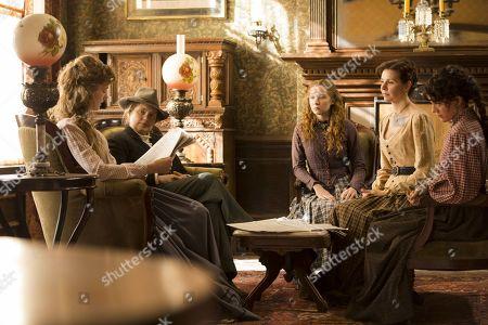 Stock Photo of Tess Frazer, Merritt Wever, Kayli Carter, Audrey Moore, Samantha Soule