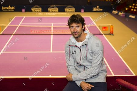 Juan Carlos Ferrero poses during a photocall to mark the launch of the Champions' Tennis tournament at the Royal Albert Hall.