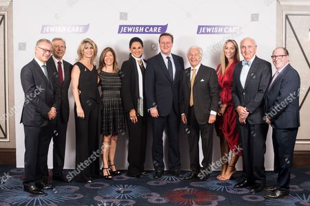 Steven Lewis Chairman of Jewish Care, Stephen Zimmerman, Nicola Loftus, Linda Bogod, Dame Gail Ronson, Prime Minister David Cameron, Lord Lord Levy, Leona Lewis, Lord Lord Young and Simon Morris Chief Executive of Jewish Care.