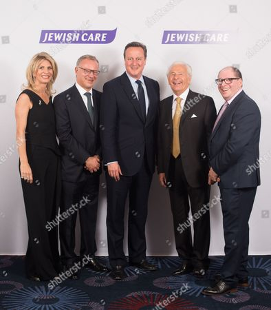 Nicola Loftus, Steven Lewis Chairman of Jewish Care, Prime Minister David Cameron, Lord Lord Levy and Simon Morris Chief Executive of Jewish Care.
