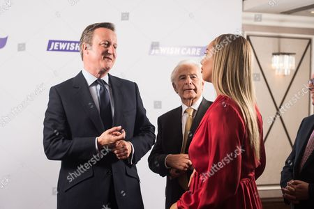 Prime Minister David Cameron with Lord Lord Levy and Leona Lewis.
