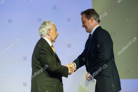 Stock Photo of Lord Lord Levy with Prime Minister David Cameron.
