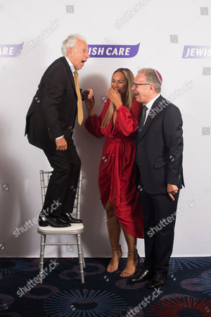 Lord Lord Levy, Leona Lewis, and Steven Lewis Chairman of Jewish Care.