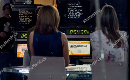 """Stock Photo of Co-anchors Hoda Kotb, left, and Savannah Guthrie sit on the set during a news segment of """"Today"""" show, in New York, in the wake of the firing of longtime """"Today"""" show anchor and host Matt Lauer, for """"inappropriate sexual behavior."""" Lauer said Thursday that repairing the damage that he has caused is now his full-time job"""