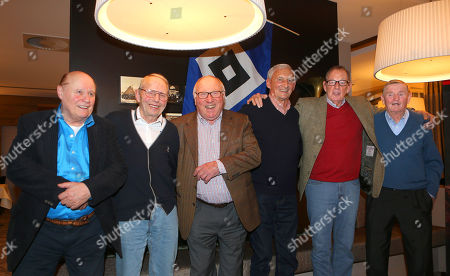 Charly Dörfel, Klaus Neisner, Uwe Seeler, Jochen Meinke, Horst Schnoor, Erwin Piechowiak