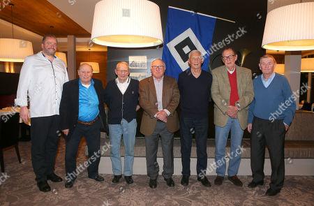 Jörn Sommer, Charly Dörfel, Klaus Neisner, Uwe Seeler, Jochen Meinke, Horst Schnoor, Erwin Piechowiak