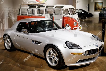 A view of a 2000 BMW Z8 that was owned by Apple Inc founder Steve Jobs during an automobile auction preview at Sotheby's in New York, New York, USA, 30 November 2017. The BMW is expected to sell for 300,000 - 400,000 USD at the auction on 06 December 2017.