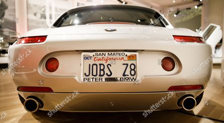 Stock Picture of A view of a 2000 BMW Z8 that was owned by Apple Inc founder Steve Jobs during an automobile auction preview at Sotheby's in New York, New York, USA, 30 November 2017. The BMW is expected to sell for 300,000 - 400,000 USD at the auction on 06 December 2017.