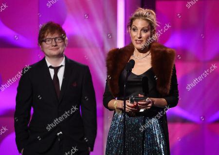 Ed Sheeran and Julie Greenwald