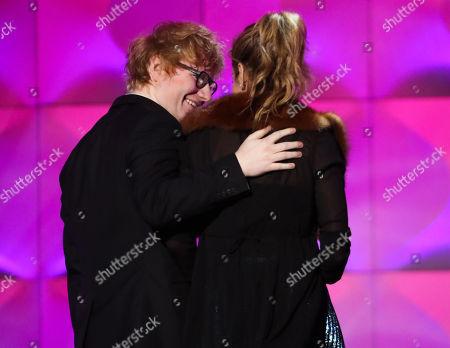 Stock Image of Ed Sheeran and Julie Greenwald