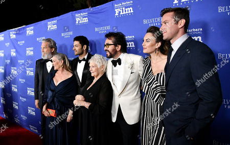 Jeff Bridges, Susan Bridges, Ali Fazal, Judi Dench, Roger Durling, Elizabeth Chambers and Armie Hammer