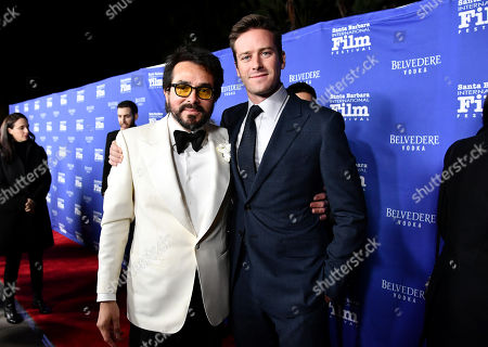 Stock Image of Roger Durling and Armie Hammer