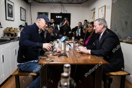 Philadelphia Mayor Jim Kenney, right, and Todd Carmichael, Ceo and Co-founder of La Colombe, meet in Philadelphia