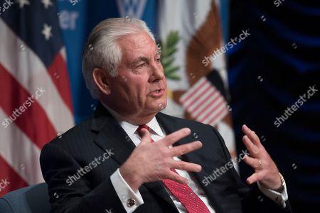 Editorial photo of Tillerson US Europe, Washington, USA - 28 Nov 2017