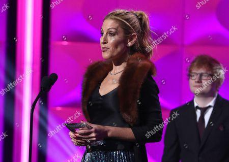 Julie Greenwald and Ed Sheeran