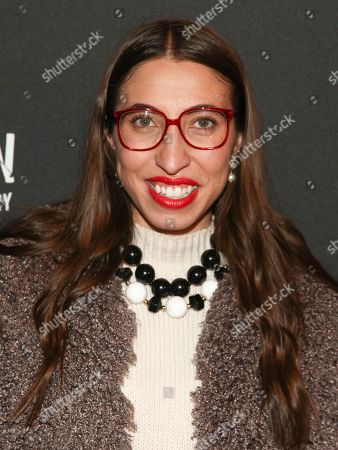 """Caroline Vazzana attends the premiere of """"Maddman: The Steve Madden Story"""" at iPic Theater, in New York"""