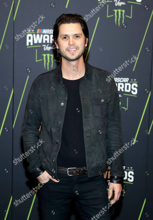 Steve Moakler arrives at the NASCAR Cup Series auto racing awards, in Las Vegas