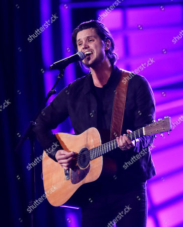 Stock Image of Steve Moakler performs during the at the NASCAR Cup Series auto racing awards, in Las Vegas