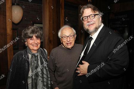 Stock Photo of Gloria Loomis, Walter Bernstein and Guillermo Del Toro