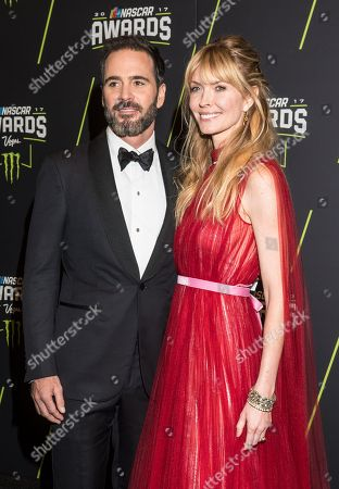 Stock Picture of Jimmie Johnson and Chandra Johnson