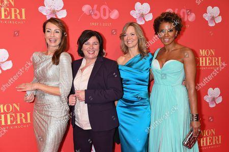 Stock Image of Sabrina Staubitz, Vera IntVeen, Nicole Noevers and Arabella Kiesbauer,.