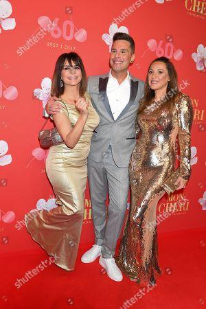 Gitta Saxx, Eloy de Jong and Simone Ballack,.