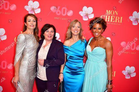 Vera Int-Veen, Sabrina Staubitz, Nicole Noevers and Arabella Kiesbauer