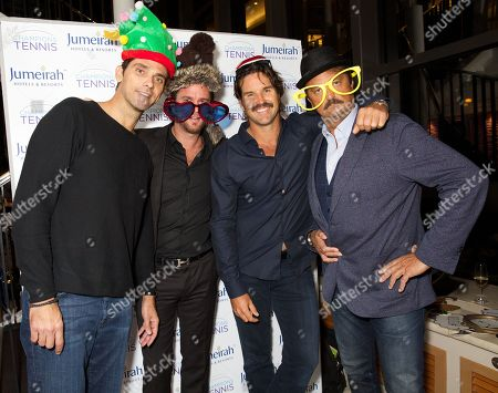 Mark Philippoussis, Xavier Malisse, Pat Rafter and Henri Leconte