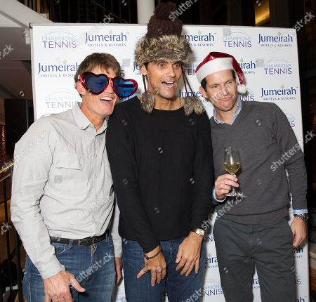 Wayne Ferreira, Mark Philippoussis and Tim Henman