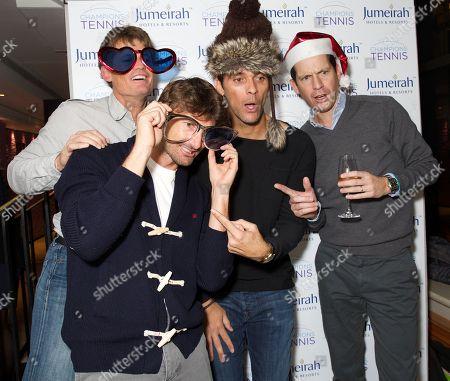 Wayne Ferreira, Juan Carlos Ferrero, Mark Philippoussis and Tim Henman