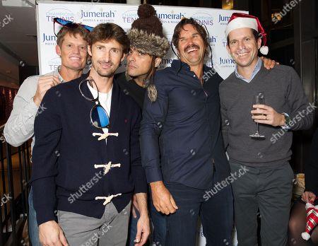 Wayne Ferreira, Juan Carlos Ferrero, Mark Philippoussis, Pat Rafter and Tim Henman