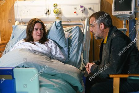 Ep 9324 Wednesday 13th December 2017 - 1st Ep Kevin Webster, as played by Michael Le Vell, visits Anna Windass, as played by Debbie Rush, and breaks the news that it's over between them as he needs to put Jack first. Anna's devastated.