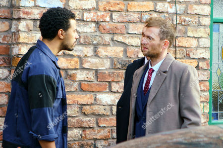 Ep 9341 Monday 1st January 2018 - 1st Ep Luke Britton's, as played by Dean Fagan, disapproving as Alya Nazir, as played by Sair Khan, heads to another meeting with the Parker brothers but Alya points out the factory girls are depending on her for their jobs. Having ignored more racist comments, Alya and Aidan see the Parker brothers out but when they find they have a flat tyre, Aidan Connor, as played by Shayne Ward, calls on Luke at the garage to help. When Justin and Dale make racist remarks to Luke he sees red.