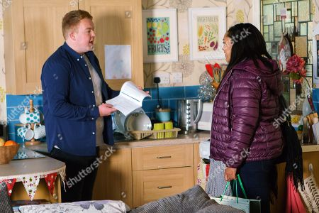 Ep 9337 & 9338 Tuesday 26th December 2017  Jess, as played by Donnaleigh Bailey, calls at the salon flat and handing Craig Tinker, as played by Colson Smith, an application form, tells him it's time he applied to join the police force as he'd make a great officer. Craig's touched.
