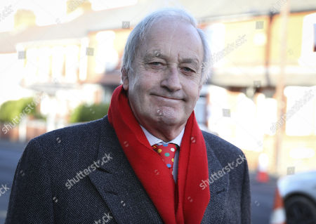 Stock Image of Leader of the UK Independence Party in Wales Neil Hamilton attends the funeral