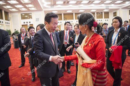 Natsuo Yamaguchi and Aung San Suu Kyi