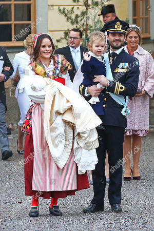 Princess Sofia of Sweden, Duchess of Värmland, Prince Gabriel of Sweden, Prince Carl Philip Edmund Bertil of Sweden, son, Prince Alexander Erik Hubertus Bertil