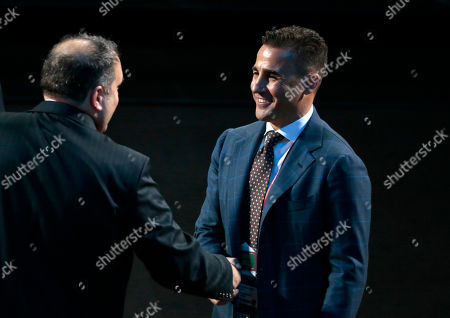 Former Italian soccer international Fabio Cannavaro arrives for the 2018 soccer World Cup draw in the Kremlin in Moscow