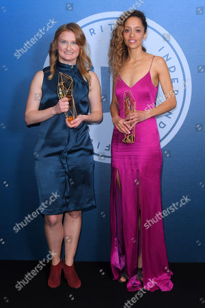 Emily Morgan - Breakthrough Producer - I Am Not A Witch and Gloria Huwiler - Douglas Hikcox Awards for Best Debut Director. Accepted on behalf of Rungano Nyoni - I Am Not A Witch