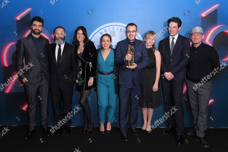 Stock Image of Francis Lee, Jack Tarling, Manon Ardisson, Josh O'Connor - Best British Independent Film - God's Own Country