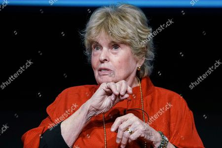 "Linda Hope reminisces about her father's storied life and annual USO tours at the Television Academy Foundation's POWER OF TV event, showcasing ""AMERICAN MASTERS: This is Bob Hope?"" on at the Saban Media Center in North Hollywood, Calif"