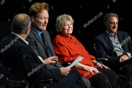 "Michael Kantor, Conan O'Brien, Linda Hope, John Scheinfeld. Michael Kantor, from left, Conan O'Brien, Linda Hope and John Scheinfeld discuss the amazing life and accomplishments of Bob Hope during the Television Academy Foundation's public program, ""THE POWER OF TV -- AMERICAN MASTERS: This is Bob Hope?"" on at the Saban Media Center in North Hollywood, Calif"
