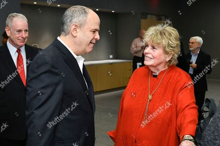 "Michael Kantor, Linda Hope. Michael Kantor and Linda Hope attend a VIP reception for the Television Academy Foundation's public program, ""THE POWER OF TV -- AMERICAN MASTERS: This is Bob Hope...,"" a special screening and discussion on at the Saban Media Center in North Hollywood, Calif"