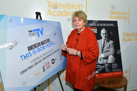 "Linda Hope poses backstage for the Television Academy Foundation's public program, ""THE POWER OF TV -- AMERICAN MASTERS: This is Bob Hope...,"" a special screening and discussion on at the Saban Media Center in North Hollywood, Calif"
