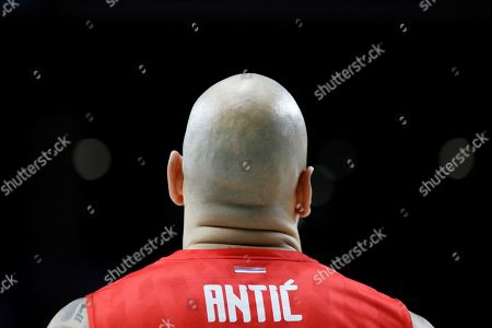 Red Star Belgrade´s center Pero Antic during the EuroLeague basketball match between Real Madrid and Red Star Belgrade played at Sports Palace in Madrid, Spain, 01 December 2017.