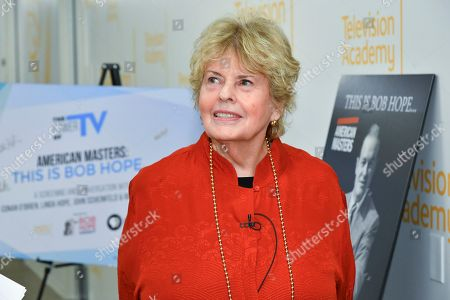 "IMAGE DISTRIBUTED FOR THE TELEVISION ACADEMY - Linda Hope is seen backstage for the Television Academy Foundation's public program, ""THE POWER OF TV -- AMERICAN MASTERS: This is Bob Hope...,"" a special screening and discussion on at the Saban Media Center in North Hollywood, Calif"