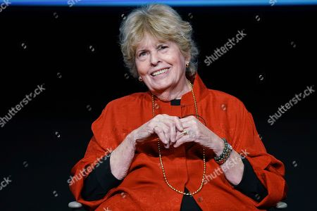 "Stock Picture of Linda Hope reminisces about her father's storied life and annual USO tours at the Television Academy Foundation's POWER OF TV event, showcasing ""AMERICAN MASTERS: This is Bob Hope?"" on at the Saban Media Center in North Hollywood, Calif"