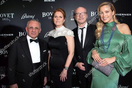 Caroline Stanbury, Sarah Ferguson Duchess of York, Petra Nemcova and Paul Haggis
